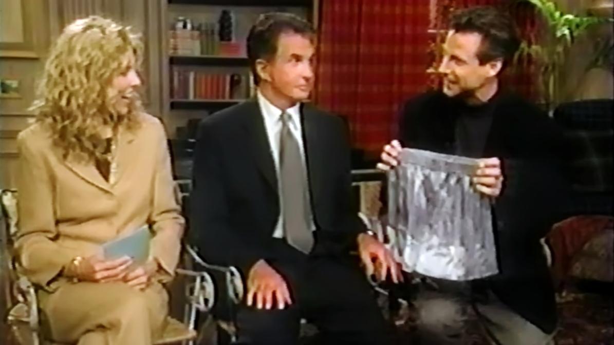 "Michael Nicklin with Alana Stewart and George Hamilton on ""George & Alana"""