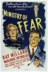 Ray Milland, Hillary Brooke, and Marjorie Reynolds in Ministry of Fear (1944)