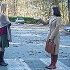 Hope Davis and Shannyn Sossamon in Wayward Pines (2015)
