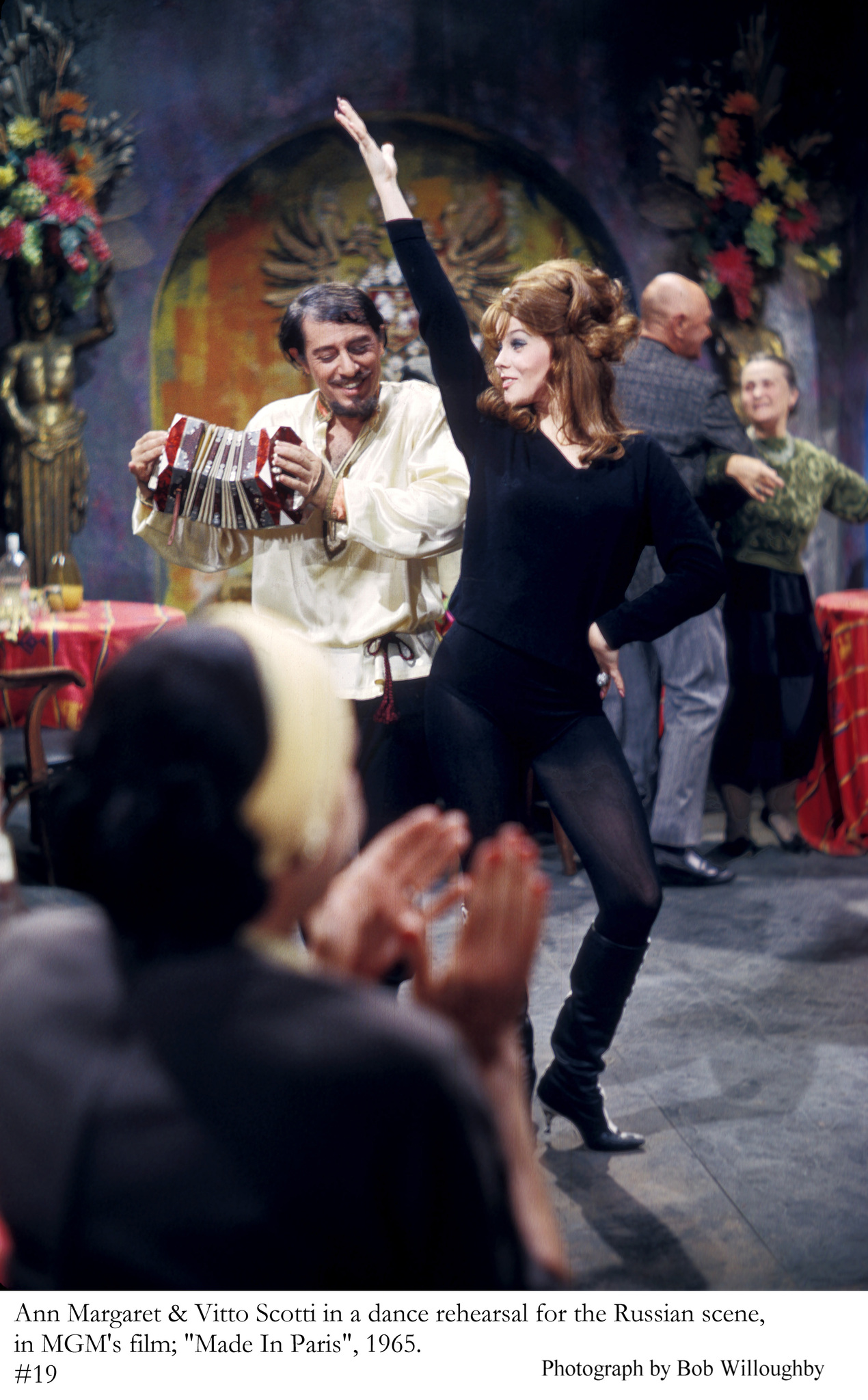 """""""Made in Paris"""" Ann-Margret, Vito Scotti on the set, 1965 MGM"""