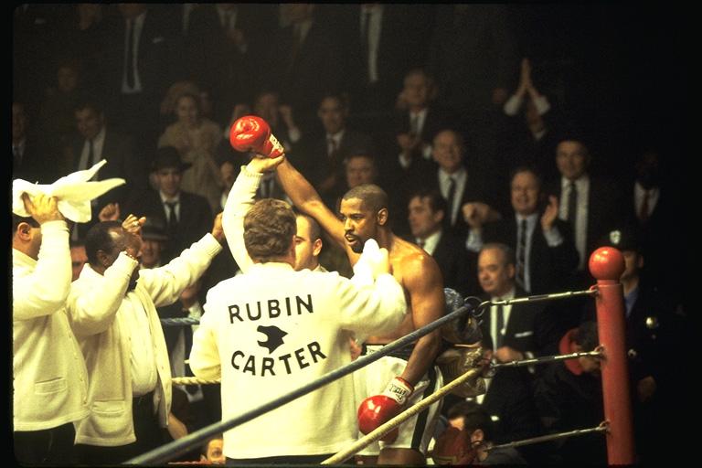 Denzel Washington stars as Rubin Carter