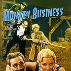 Groucho Marx, Chico Marx, Harpo Marx, Constantine Romanoff, and Thelma Todd in Monkey Business (1931)