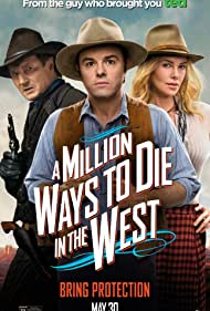 Charlize Theron, Liam Neeson, and Seth MacFarlane in A Million Ways to Die in the West (2014)