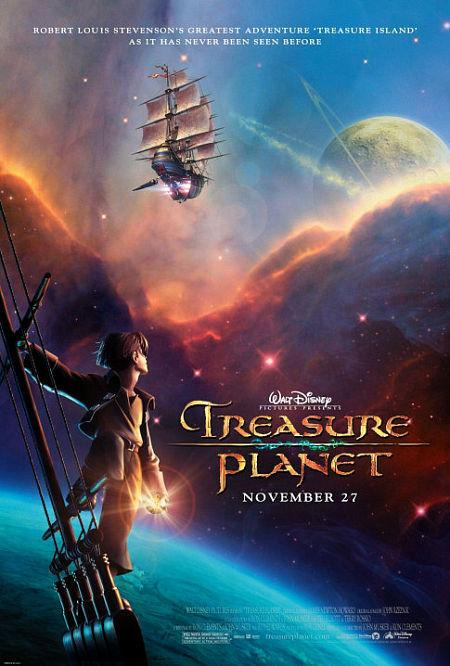 img:pirate ship floating in space with a boy standing on the ship on top of a planet