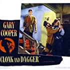 Gary Cooper, J. Edward Bromberg, and Vladimir Sokoloff in Cloak and Dagger (1946)