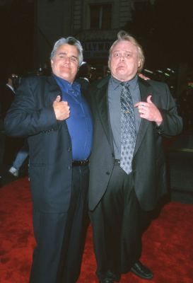 Louie Anderson and Jay Leno at an event for Battlefield Earth (2000)