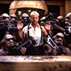 Bruce Willis and Clifton Lloyd Bryan in The Fifth Element (1997)