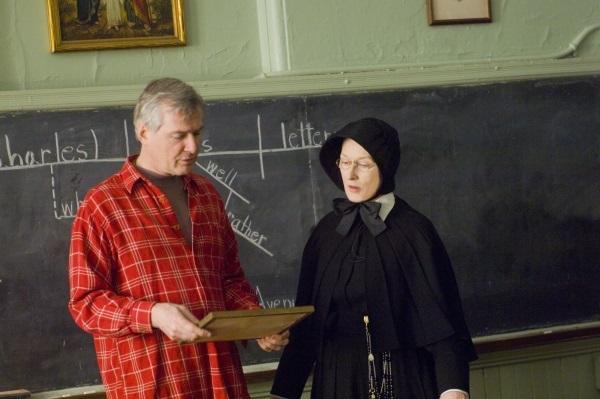 Meryl Streep and John Patrick Shanley in Doubt (2008)