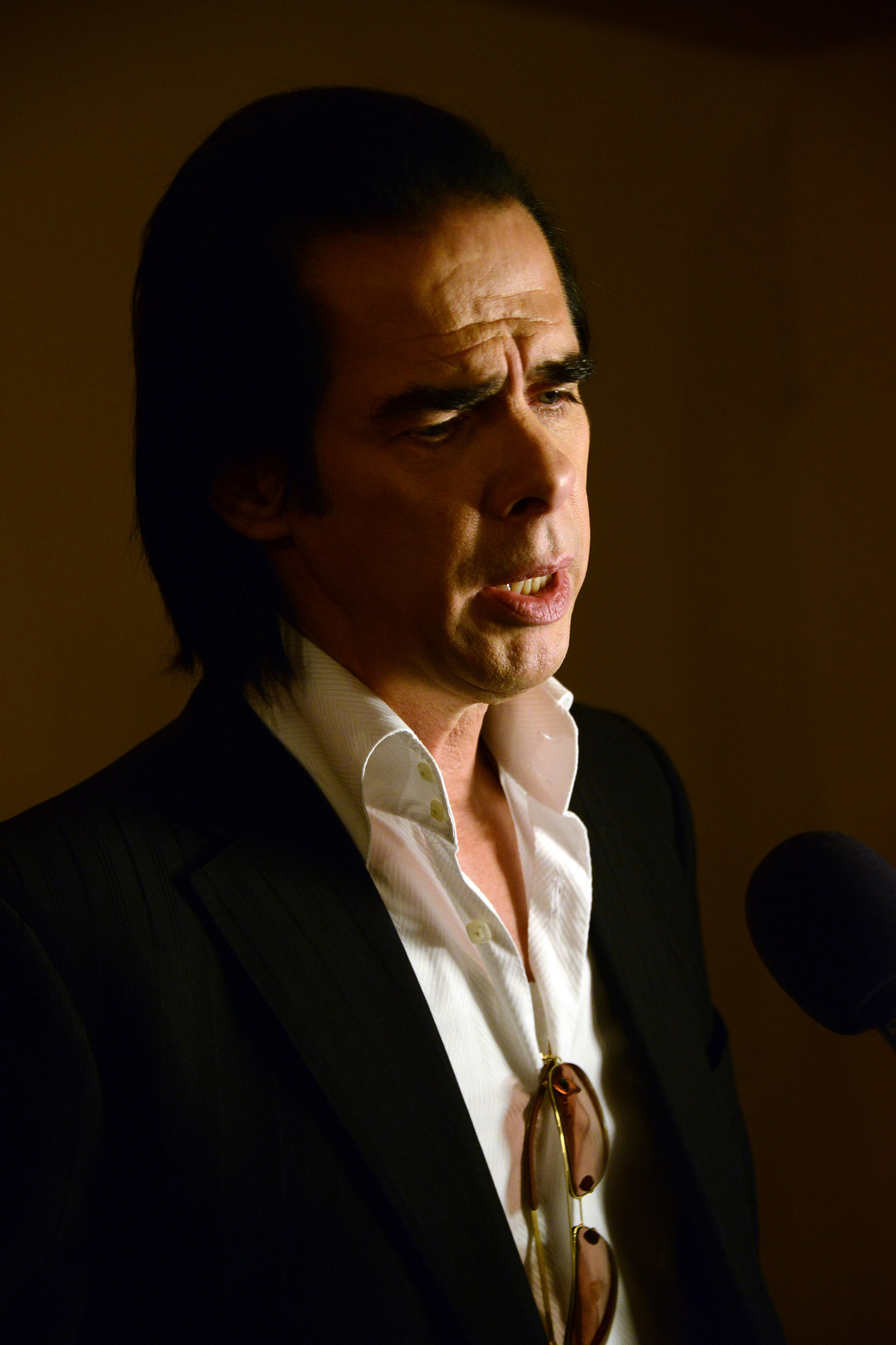Nick Cave at an event for 20,000 Days on Earth (2014)