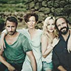 Ralph Fiennes, Dakota Johnson, Matthias Schoenaerts, and Tilda Swinton in A Bigger Splash (2015)