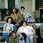 Johnny Depp, Leonardo DiCaprio, Juliette Lewis, Darlene Cates, Laura Harrington, and Mary Kate Schellhardt in What's Eating Gilbert Grape (1993)