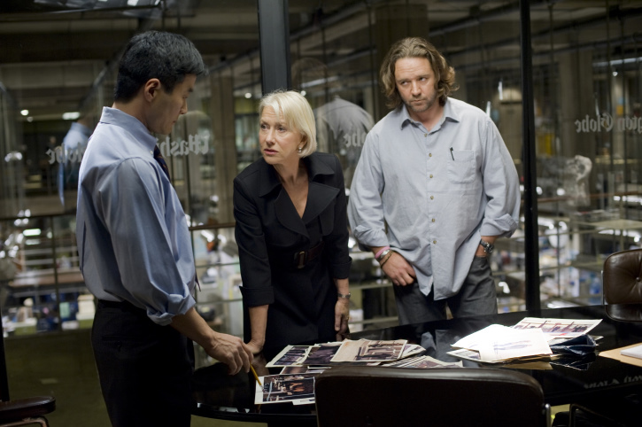 Russell Crowe, Helen Mirren, and Stephen Parks in State of Play (2009)
