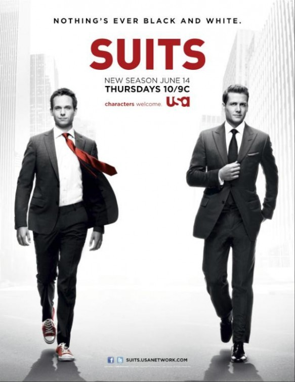 Gabriel Macht and Patrick J. Adams in Suits (2011)