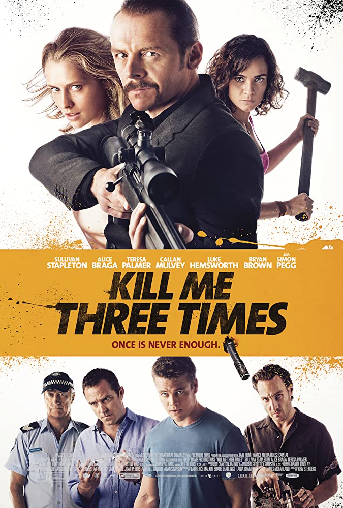 Kill Me Three Times 2014 Hindi ORG Dual Audio 720p BluRay ESubs 800MB x264 AAC