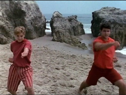 Richard Lee Jackson and Austin St. John in Mighty Morphin Power Rangers (1993)