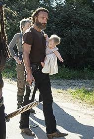 Andrew Lincoln, Melissa McBride, and Danai Gurira in The Walking Dead (2010)