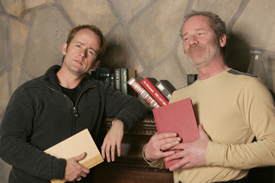 Billy Boyd and Peter Mullan at an event for On a Clear Day (2005)