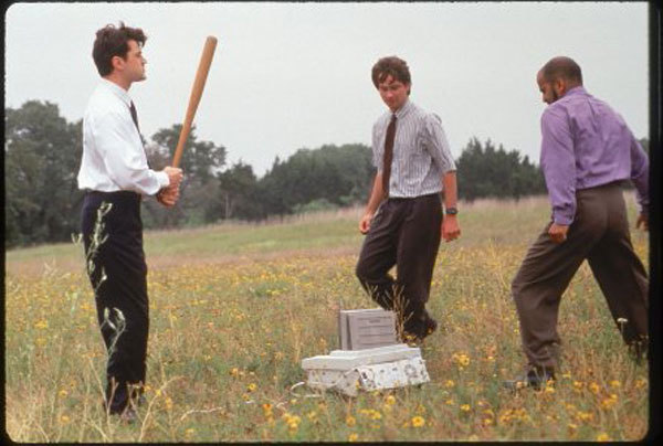 David Herman, Ron Livingston, and Ajay Naidu in Office Space (1999)