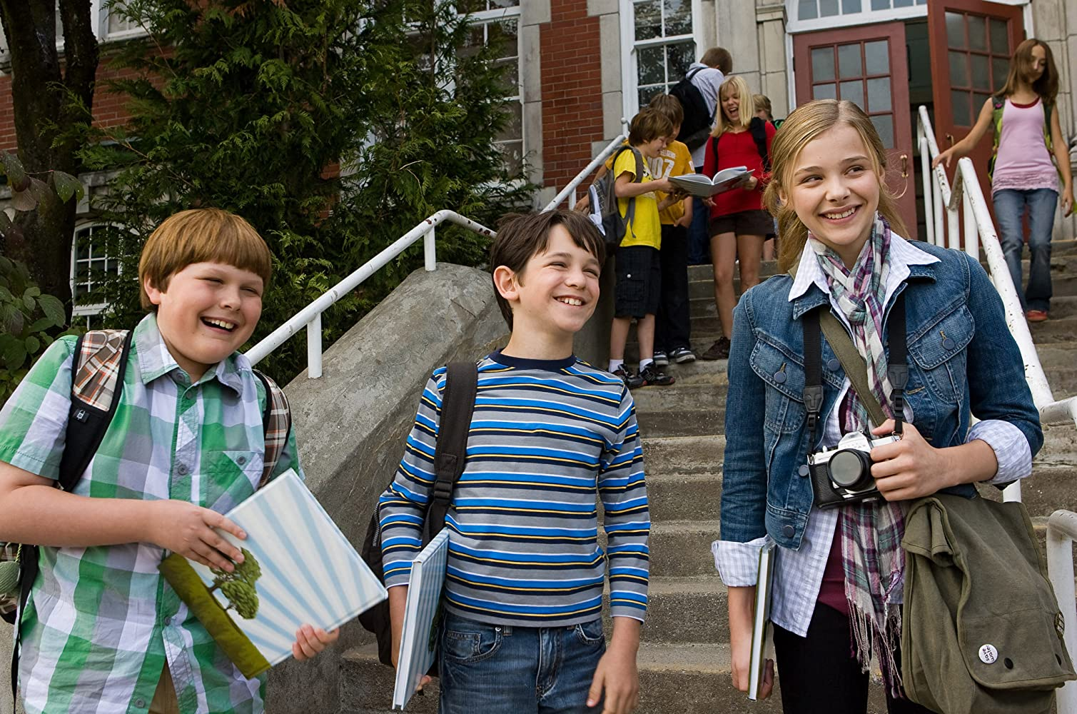 Chloë Grace Moretz, Zachary Gordon, and Robert Capron in Diary of a Wimpy Kid (2010)