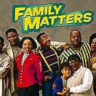 Reginald VelJohnson, Shawn Harrison, Rosetta LeNoire, Bryton James, Darius McCrary, Jo Marie Payton, Jaleel White, and Kellie Shanygne Williams in Family Matters (1989)
