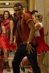 Melissa Benoist, Becca Tobin, and Jacob Artist in Glee (2009)