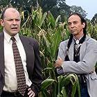 "Rob Corddry (left) as Mayor Fishback and David Jensen as Chief Samuel Many Bulls in ""Patriotville."""