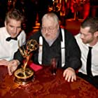 George R.R. Martin, David Benioff, and D.B. Weiss at an event for The 67th Primetime Emmy Awards (2015)