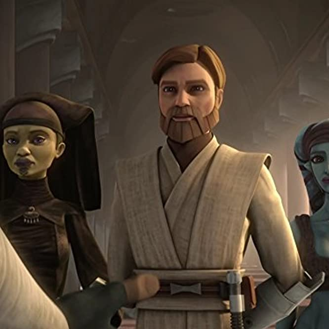 Olivia d'Abo, Jennifer Hale, and James Arnold Taylor in Star Wars: The Clone Wars (2008)