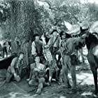 John Wayne, Robert Barrat, Wilfrid Lawson, Moroni Olsen, and Claire Trevor in Allegheny Uprising (1939)
