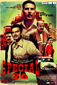 Manoj Bajpayee, Anupam Kher, Akshay Kumar, and Jimmy Sheirgill in Special Chabbis (2013)