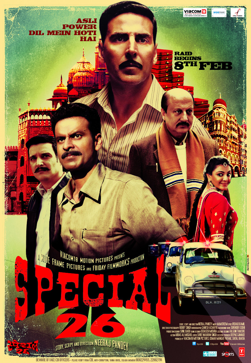 Special 26 (2013) Hindi Blu-Ray - 480P   720P   1080P - x264 - 500MB   1.5GB   3.8GB - Download & Watch Online  Movie Poster - mlsbd