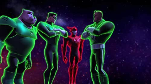 It's Lanterns versus Manhunters and Guy Gardner is inexplicably in charge
