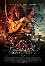 Rose McGowan, Stephen Lang, Jason Momoa, and Rachel Nichols in Conan the Barbarian (2011)