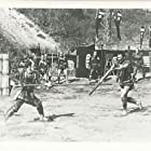 Toshirô Mifune and Susumu Fujita in Kakushi-toride no san-akunin (1958)
