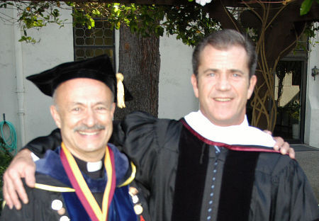 Image result for picture of mel gibson receiving honorary doctorate