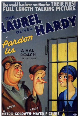 Oliver Hardy and Stan Laurel in Pardon Us (1931)