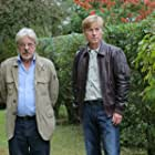 Giancarlo Giannini and David Wall on set of Shades of Truth, Italy