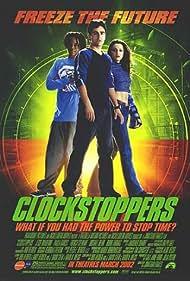 Jesse Bradford, Paula Garcés, and Garikayi Mutambirwa in Clockstoppers (2002)