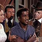 Robert Conrad, Sammy Davis Jr., Hazel Court, and Ross Martin in The Wild Wild West (1965)