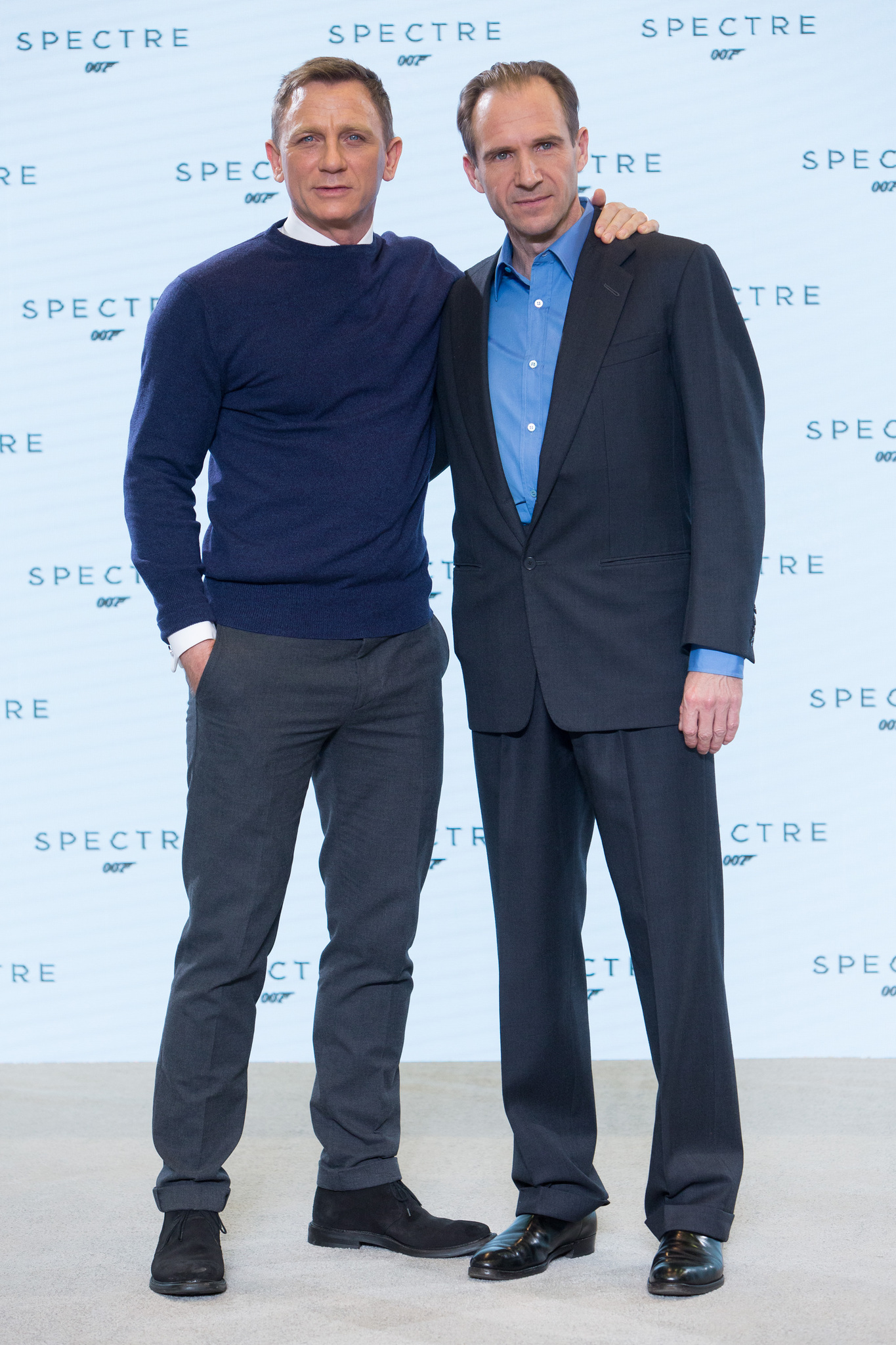 Ralph Fiennes and Daniel Craig at an event for Spectre (2015)