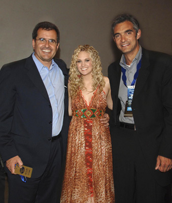 Peter Liguori, Peter Chernin, and Carrie Underwood at an event for American Idol: The Search for a Superstar (2002)