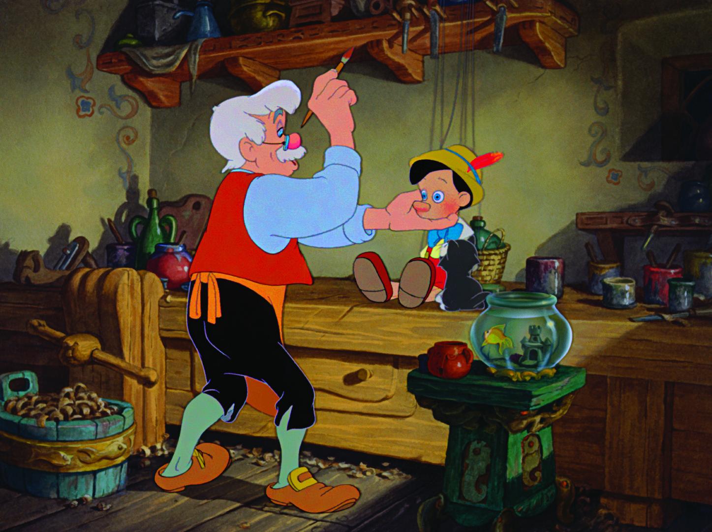 Dickie Jones and Christian Rub in Pinocchio (1940)