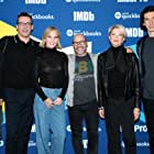 Annette Bening, Jennifer Fox, Jon Hamm, Scott Z. Burns, and Adam Driver at an event for The Report (2019)