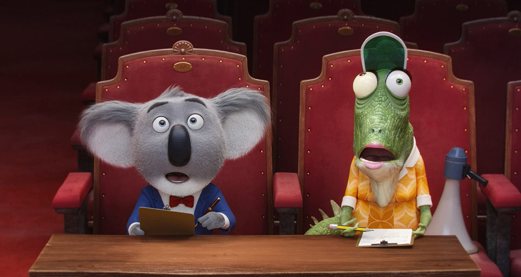 Matthew McConaughey, Reese Witherspoon, and Garth Jennings in Sing (2016)