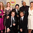 Lauren Ambrose, Freddy Rodríguez, Frances Conroy, Rachel Griffiths, Michael C. Hall, Peter Krause, and Mathew St. Patrick at an event for 9th Annual Screen Actors Guild Awards (2003)