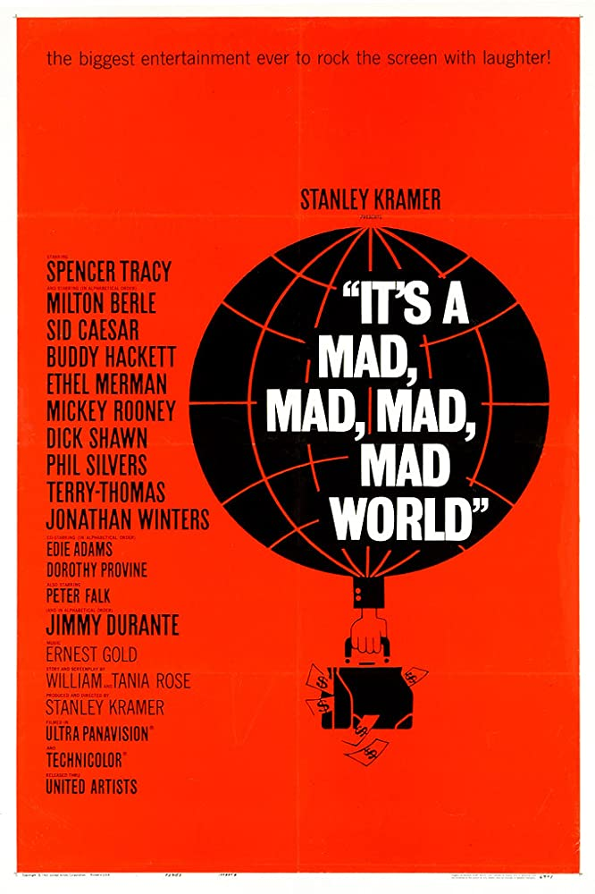 """""""It's Mad Mad Mad Mad World"""" (Saul Bass Poster) 1963 United Artists"""