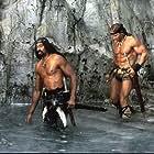 Arnold Schwarzenegger and Wilt Chamberlain in Conan the Destroyer (1984)