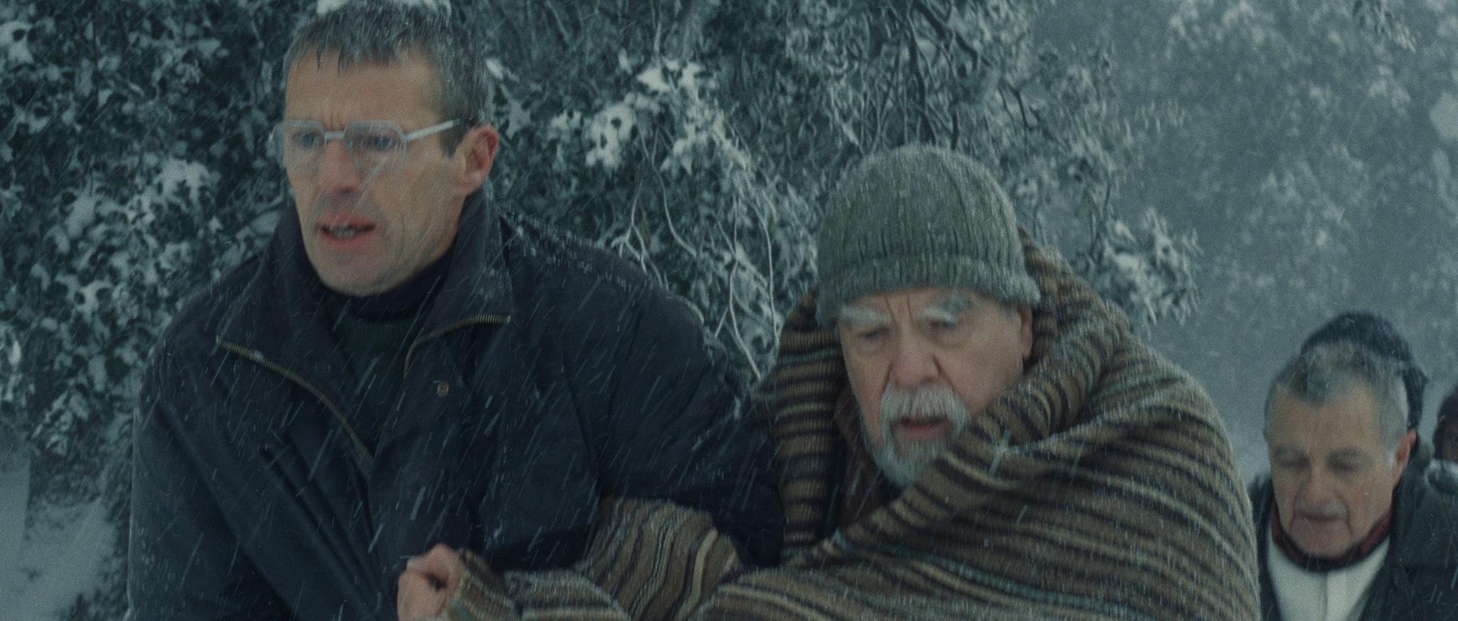 Michael Lonsdale, Philippe Laudenbach, and Lambert Wilson in Des hommes et des dieux (2010)