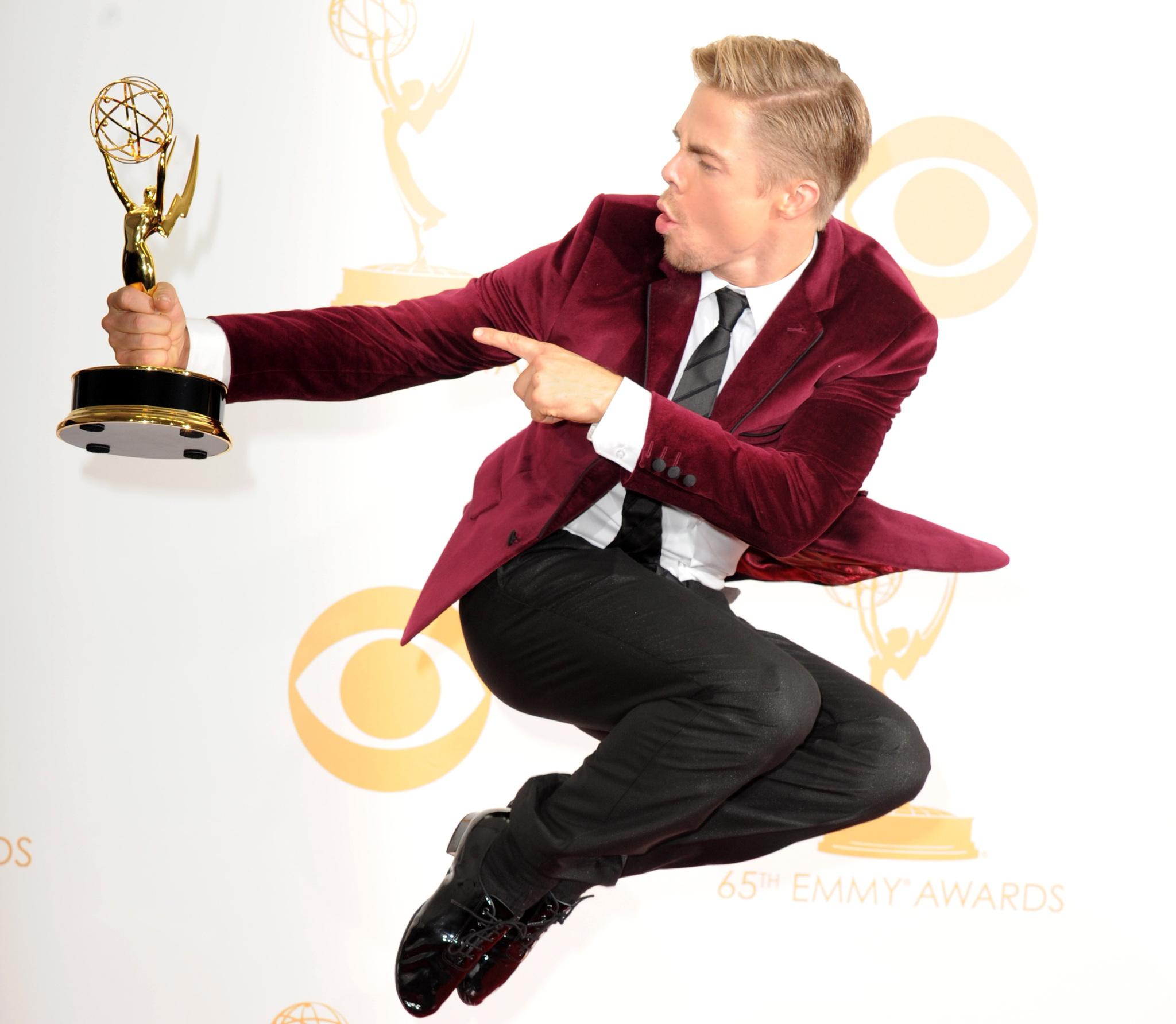 Derek Hough at an event for 2013 Primetime Creative Arts Emmy Awards (2013)