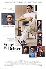 Edward James Olmos, Lou Diamond Phillips, Patrick Baca, Lydia Nicole, Will Gotay, Vanessa Marquez, Karla Montana, Ingrid Oliu, and Eliot in Stand and Deliver (1988)
